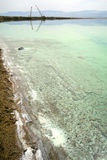 Maquinaria pesada en el mar muerto Imágenes de archivo libres de regalías
