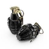 Dos granadas de mano Imagen de archivo libre de regalías