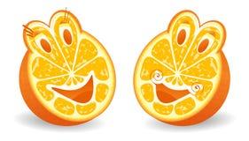 Dos halfs de naranja Foto de archivo libre de regalías