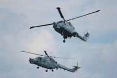Dos helicópteros militares Fotografía de archivo
