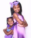 Dos hermana confiada Girls Imagen de archivo
