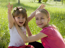 Dos hermanas Imagen de archivo libre de regalías