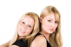 Dos hermanas fotos de archivo libres de regalías