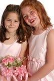 Dos hermanas nupciales se cierran imágenes de archivo libres de regalías