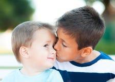 Dos hermanos Imagen de archivo libre de regalías