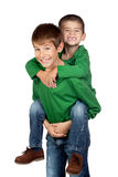 Dos hermanos divertidos Imagen de archivo
