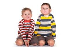 Dos hermanos felices Imagen de archivo libre de regalías