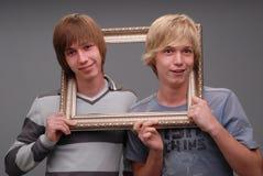 Dos hermanos, retratos, Foto de archivo