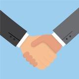 Dos hombre de negocios Handshake Deal Partnership Estilo plano del ejemplo del vector del negocio del concepto libre illustration