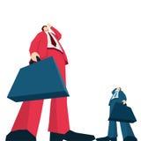 Dos hombre de negocios Searching Imagen de archivo