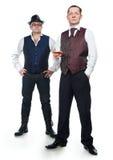 Dos hombres en chalecos Imagen de archivo