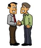 Dos hombres que sacuden las manos libre illustration