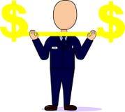 Dos homens o profissional do ` s levanta o dólar Imagem de Stock