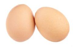 Dos huevos, aislados totalmente Fotografía de archivo libre de regalías