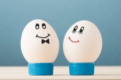 Dos huevos blancos Foto de archivo libre de regalías