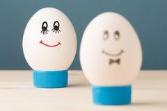 Dos huevos blancos Fotografía de archivo libre de regalías