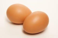 Dos huevos de Brown aislados Imagen de archivo