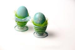 Dos huevos de la turquesa Fotos de archivo libres de regalías