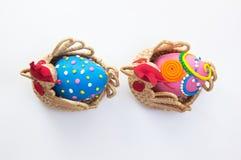 Dos huevos de Pascua Fotografía de archivo libre de regalías