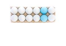 Dos huevos de Pascua azules Imagenes de archivo