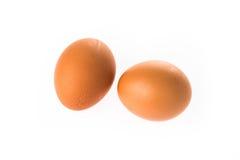 Dos huevos en el fondo blanco Foto de archivo