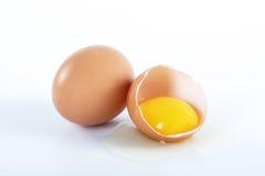 Dos huevos marrones Imágenes de archivo libres de regalías