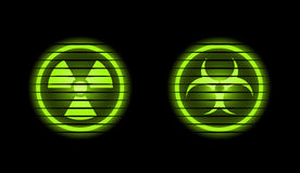 Dos iconos industriales del vector Imagen de archivo