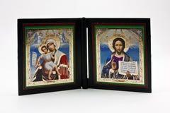 Dos iconos religiosos Foto de archivo libre de regalías