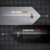 Dos indicadores con diversas opciones Fotografía de archivo libre de regalías