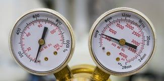 Dos indicadores de presión Foto de archivo