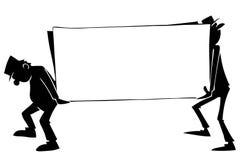 Dos individuos con un cartel libre illustration