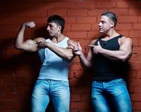 Dos individuos musculares Imagen de archivo libre de regalías