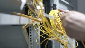 Dos ingenieros de las telecomunicaciones almacen de video