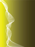 Dos jaune et noir abstrait Photos libres de droits