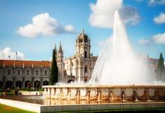 DOS Jeronimos de Mosteiro en Lisboa, Portugal Fotografía de archivo