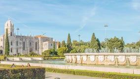 DOS Jeronimos de Mosteiro, situ? dans le secteur de Belem de Lisbonne, le Portugal banque de vidéos