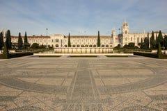 DOS Jeronimos di Monasteiro. Lisbona. Il Portogallo Immagini Stock Libere da Diritti