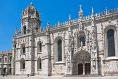 Dos Jeronimos, Lissabon, Portu van Mosteiro stock foto's