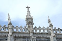 Dos Jeronimos monastery in Lisbon Royalty Free Stock Photo