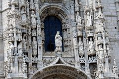 Dos Jeronimos monastery in Lisbon Stock Image