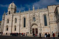 DOS Jeronimos Mosteiro μοναστηριών Jeronimos ή μοναστηριών Hieronymites Στοκ Εικόνα