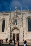 DOS Jeronimos Mosteiro μοναστηριών Jeronimos ή μοναστηριών Hieronymites Στοκ Φωτογραφίες