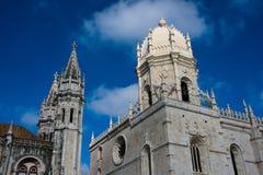DOS Jeronimos Mosteiro μοναστηριών Jeronimos ή μοναστηριών Hieronymites Στοκ φωτογραφία με δικαίωμα ελεύθερης χρήσης