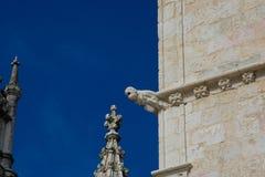 DOS Jeronimos Mosteiro μοναστηριών Jeronimos ή μοναστηριών Hieronymites gargoyle Στοκ εικόνες με δικαίωμα ελεύθερης χρήσης
