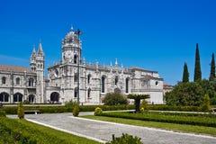 Dos Jeronimos Mosteiro, Лиссабон, Portu Стоковые Изображения