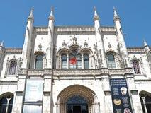 Dos Jeronimos Mosteiro, монастырь в Belem в Лиссабоне стоковые фотографии rf
