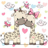 Dos jirafas lindas libre illustration