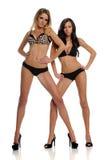 Dos jovenes y modelos de manera hermosos Imagen de archivo