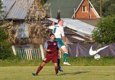 Dos jugadores de fútbol Imagen de archivo