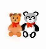 Dos juguetes del oso de peluche Foto de archivo libre de regalías